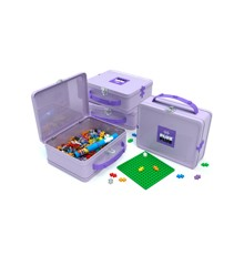 Plus Plus - Suitcase Metal purple, 600 pc