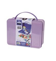 Plus Plus - Mini Pastell - Koffert metall lilla, 600 stk (7003)