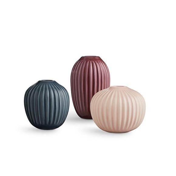 Kähler - Hammershøi Vase Miniature 3 pack - Rose (692399)