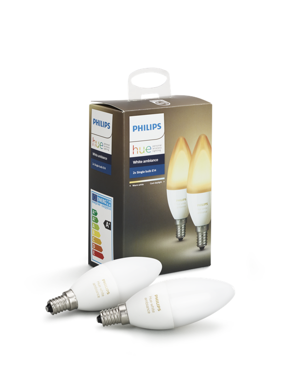 Philips Hue -  E14 2-Pack Bulb - White Ambience