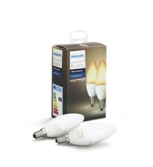 Philips Hue E14 2er- Pack Glühlampe Weiß - White Ambience
