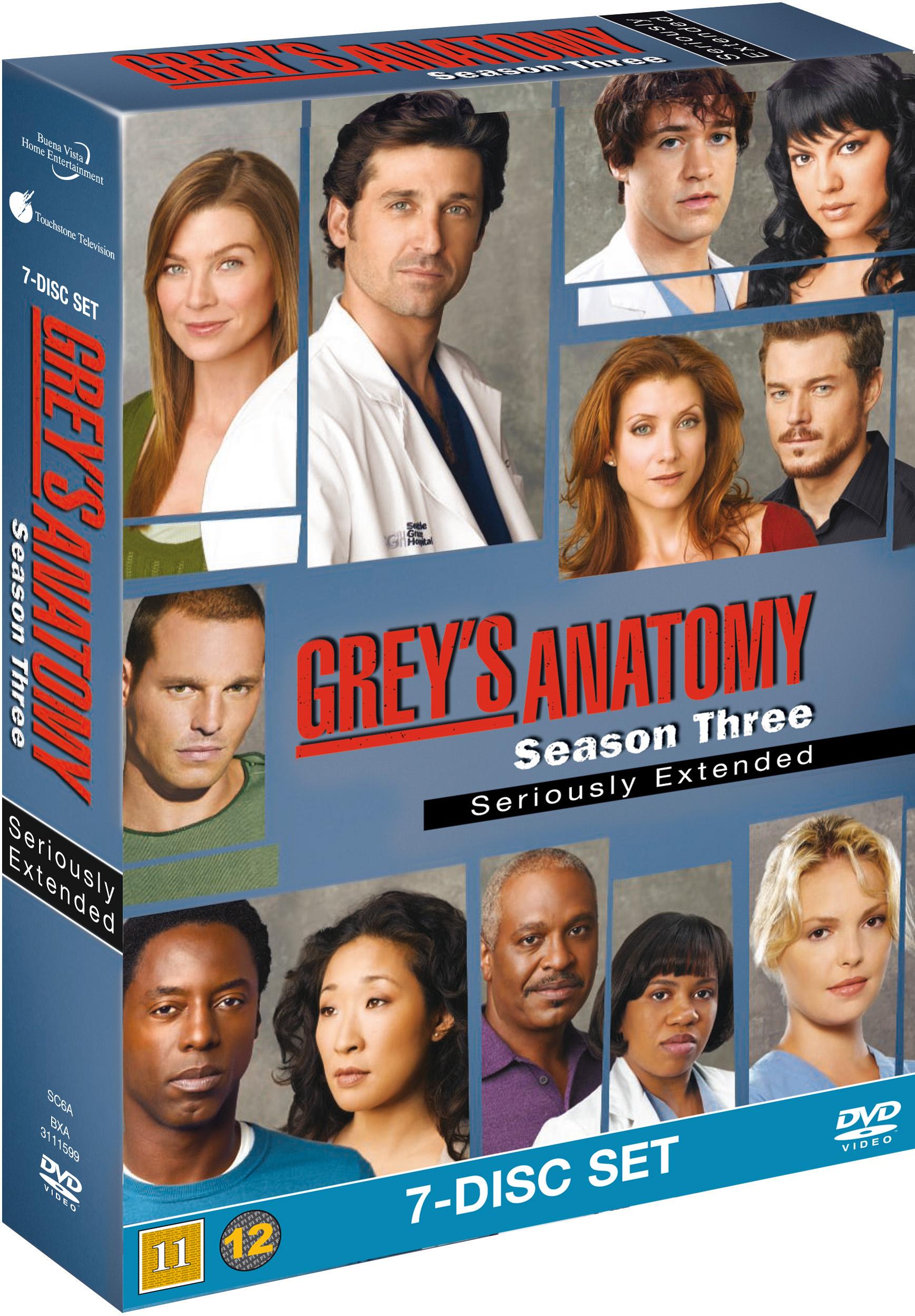 Greys Hvide Verden/Greys Anatomy - sæson 3 - DVD