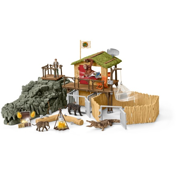 Schleich - Croco  Jungle forskningsstation (42350)
