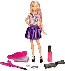 Barbie - D.I.Y Crimps and Curls Dukke (DWK49)