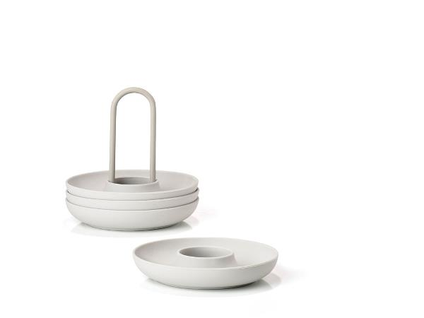 Zone - Singles Egg Cups With Holder - Warm Grey (332023)