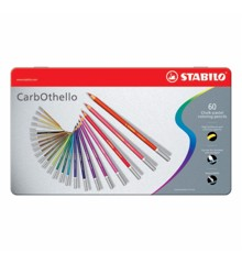 Stabilo -CarbOthello chalk-pastel Coloured Pencil - Metal Box of 60 Colours