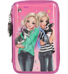 Top Model - Trippel Pencil Case - Friends - Pink (0410689)