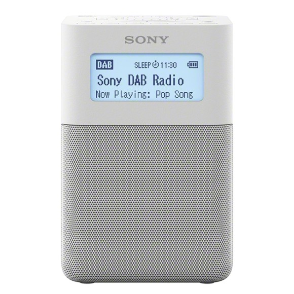 Sony - XDR-V20D Portable DAB/DAB+ Clock Radio White