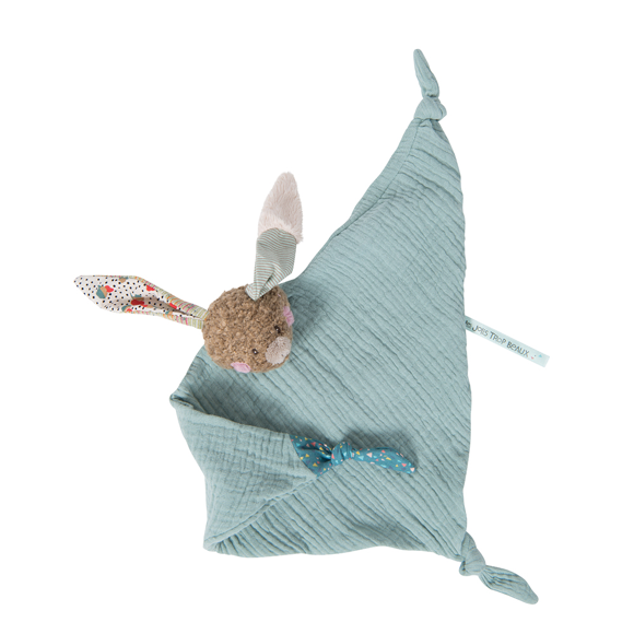 Moulin Roty - Rabbit muslin comforter (665019)
