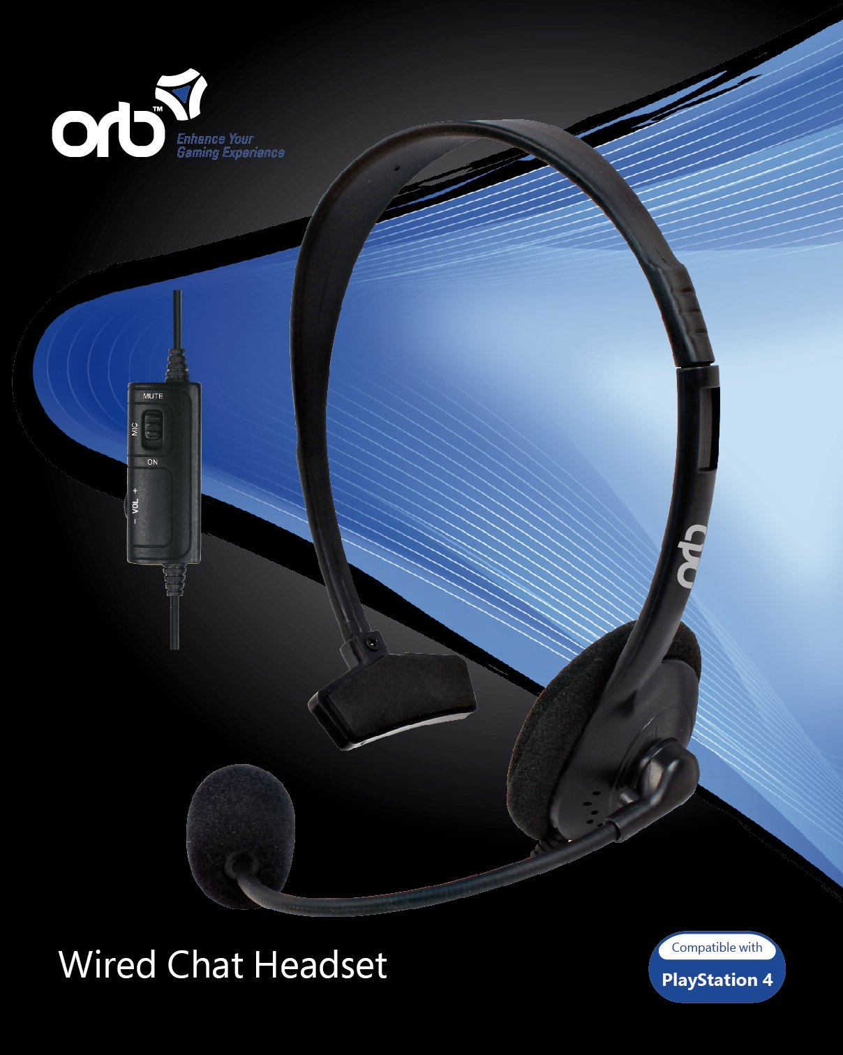 coolshop.co.uk - Playstation 4 – Wired Chat Headset (ORB)