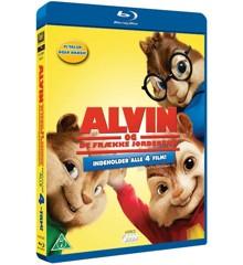 Alvin And The Chipmunks 1-4/Alvin Og De Frække Jordegern 1-4 (4disc)(Blu-Ray)