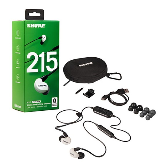 Shure - SE215-BT1 - Wireless Sound Isolating Earphones (White)
