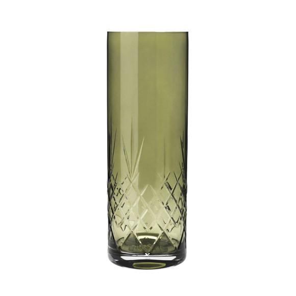 Frederik Bagger - Crispy Emerald Love 3 Crystal Vase (10386)