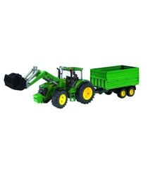 Bruder - John Deere 7930 Tractor with Frontloader and Tandem Axle Tipping Trailer