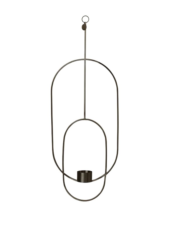 Ferm Living - Haning Lysestage Oval - Sort