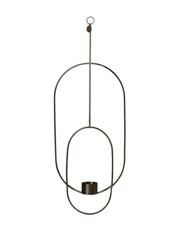 Ferm Living - Haning Tealight Oval - Black (5751)