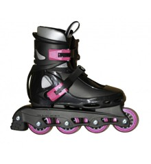 Roxa - Beetle Inliner Rollerblade - Black/Pink (size: 26-31 ) (1031ceriseS)
