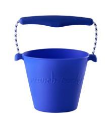 Scrunch Bucket - Blød spand til stranden - Blå