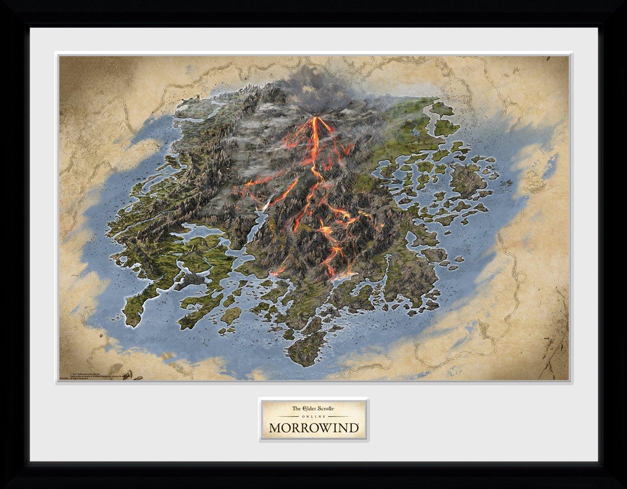 Kaufe Elder Scrolls Online Morrowind Map Framed Collector ...