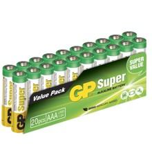 GP Super Alkaline AAA - 20 batteries