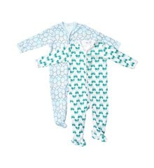 Pippi - Nightsuit w/f 2-pack - buttons - Light Blue