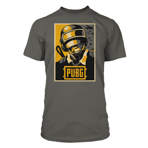 PUBG Hope Poster Tee Charcoal - Small