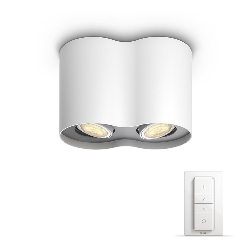 Philips Hue - Pillar - Dual Spot - With remote - White Ambiance - E