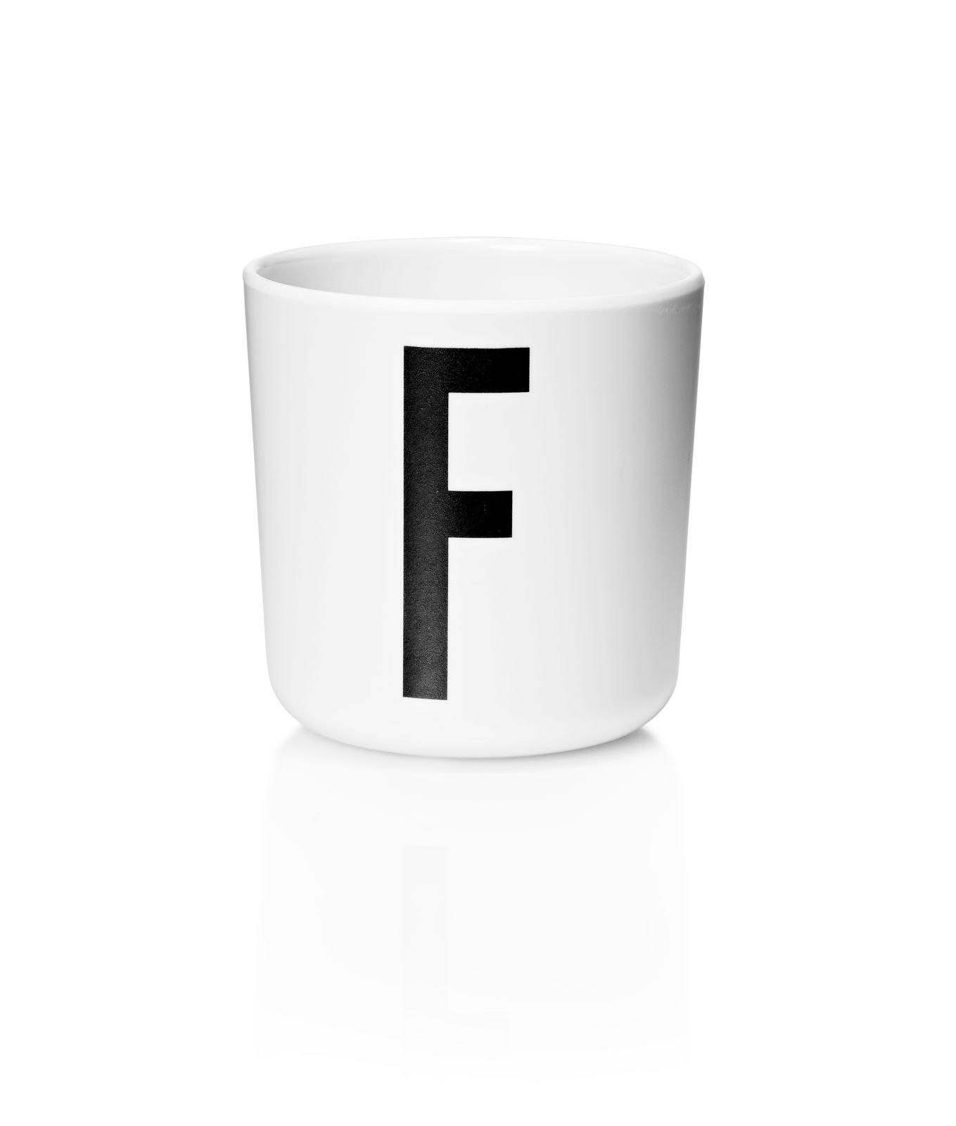 ​Design Letters - Personal Melamine Cup F - White (20201000F)