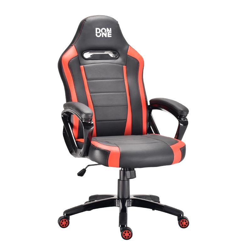 DON ONE - BELMONTE Gaming Chair - Schwartz/Rot