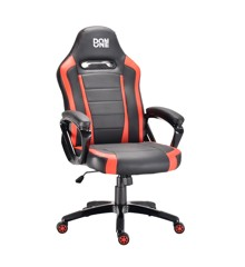 DON ONE - BELMONTE Gaming Chair - Svört/Rautt