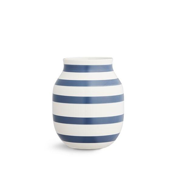 Kähler - Omaggio Vase Medium - Steel Blue (691761)