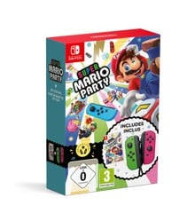 Super Mario Party + Joy Con Pair (Neon Green/Neon Pink)
