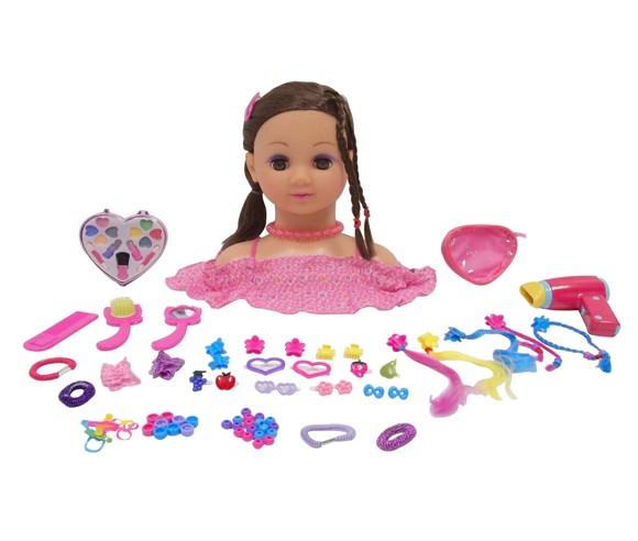 Happy Friend - Make Up Dollhead - Brunette (804012)
