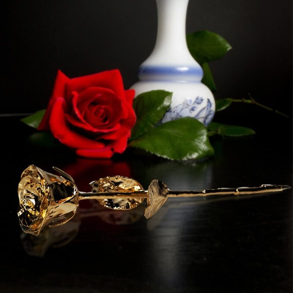 24K Golden Rose - Black Giftbox