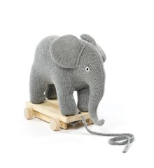 Smallstuff - Pull Along  Elephant - Grey