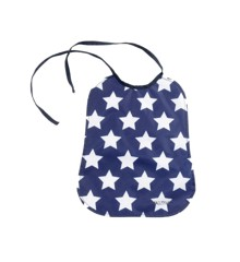Smallstuff - Eating Bib Large - Navy/White (26001-4)