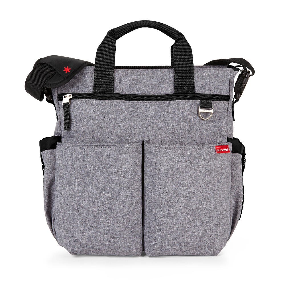 Skip Hop - Signature Duo Diaper Bag - Heather Grey
