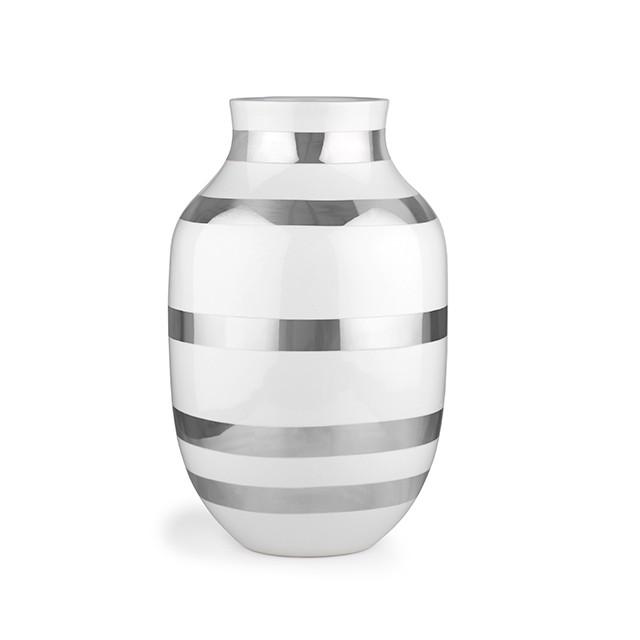 Kähler - Omaggio Vase Large - Silver (691792)