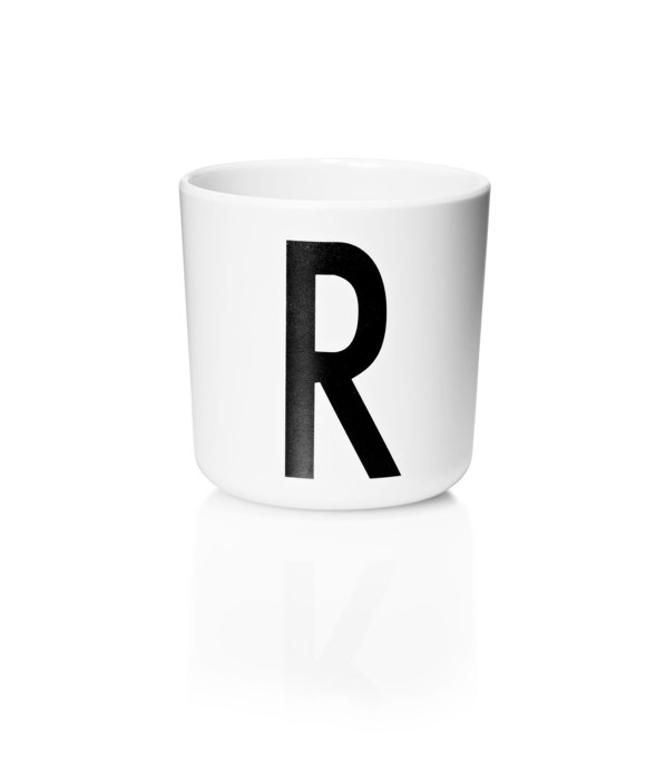 Design Letters - Personal Melamine Cup R - White (20201000R)
