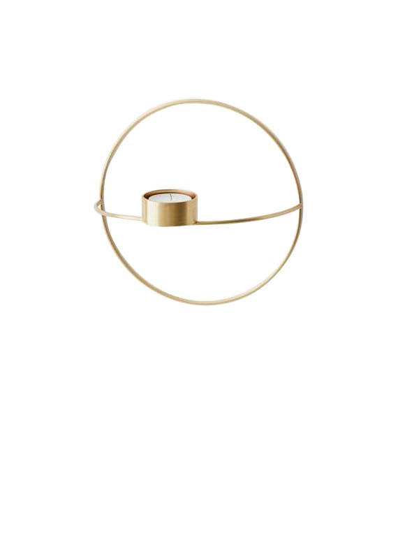 Menu - POV Circle Tealight Candleholder Small - Brass (4813839)