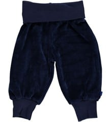 Småfolk - Velour Baby Bukser m. Bred Rib - Medieval Blue