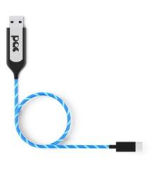 PAC - Opladningskabel USB-C blå LED belyst kabel ( 1m )