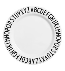 Design Letters  - Eat & Learn Middagstallerken Ø 24 cm - Hvid
