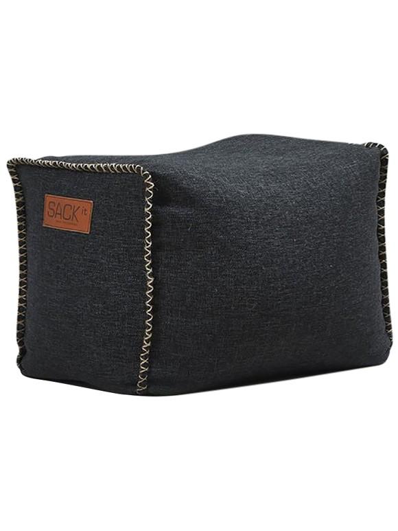 SACKit - RETROit Square Drum Puff - Black ( Outdoor use ) (8575002)