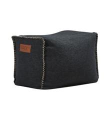 SACKit - RETROit Square Drum Puff - Black ( Outdoor use )