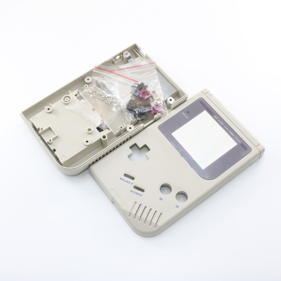 ZedLabz replacement housing shell case repair kit for Nintendo Game Boy DMG-01 - grey