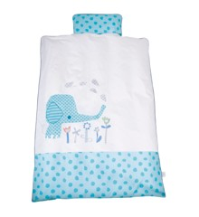 Baby Dan - Junior Bedcover Elefantastic - Blue