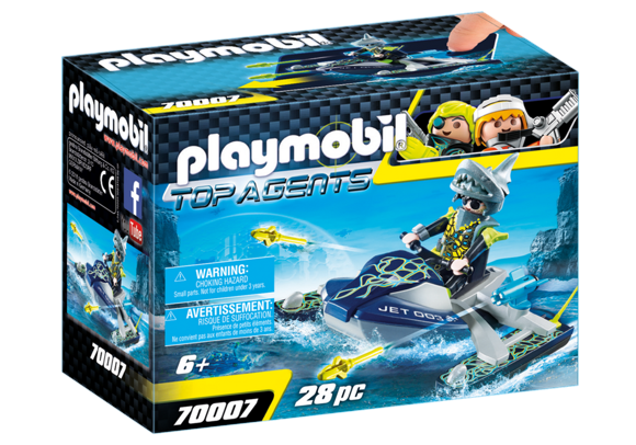 Playmobil - TEAM S.H.A.R.K. Rocket Rafter (70007)