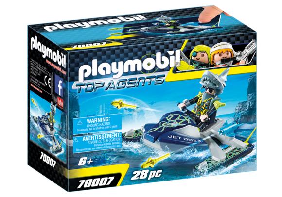Playmobil - TEAM S.H.A.R.K. Vandscooter med raketter (70007)
