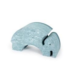 bObles Elefant - Hellblauer Marmor